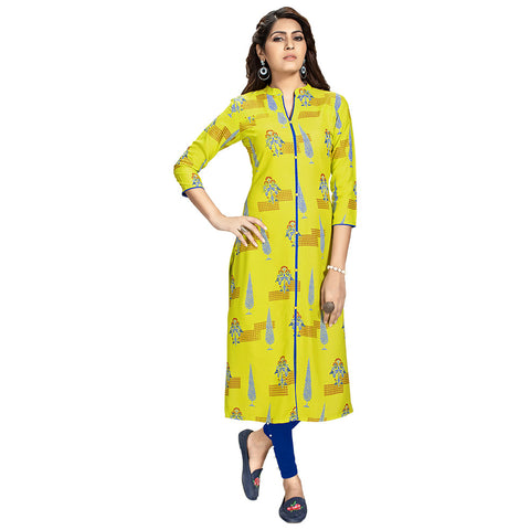 Fabulous Green Colored Printed Kurti