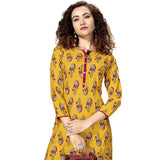Ideal Mustard Colored Rayon Straight Kurti