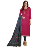 Graceful Pink Coloured Tussar Silk Salwar Kameez