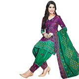 Amazing Purple Cotton Salwar With Cotton Dupatta And Bottom