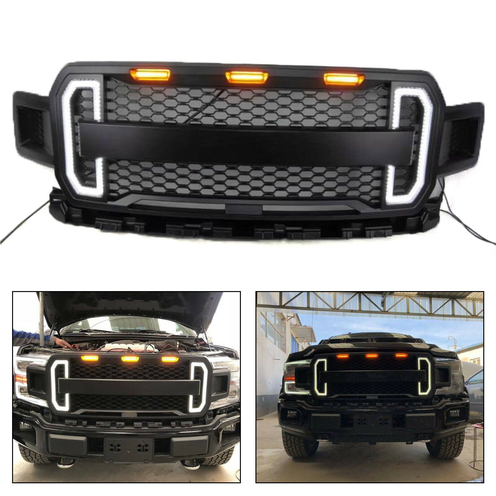 Front Grille For Ford F150 F 150 2018 2019 Truckoffroad