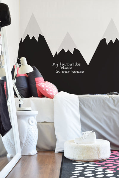 Black Mountains Wall Sticker
