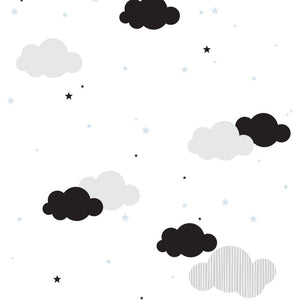 Clouds ans blue stars wallpaper