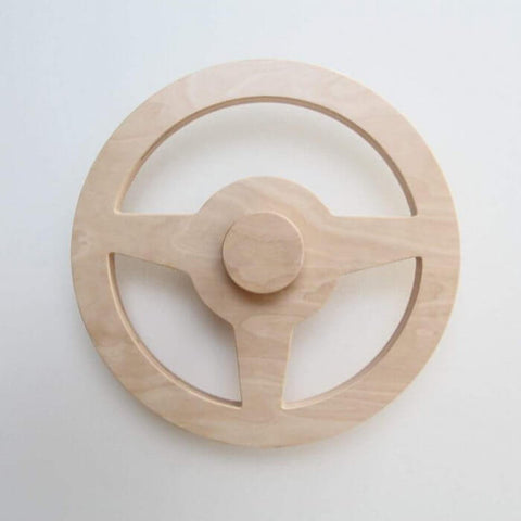 Wooden wheel toy