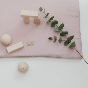 Playmat Pink Linen Square