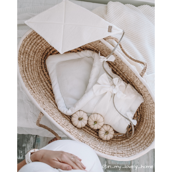 Baby swaddle wrap - linen warm white