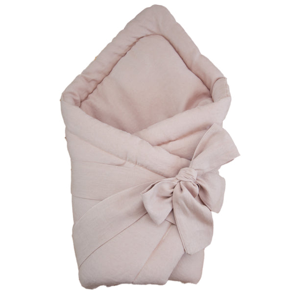 Baby swaddle wrap - linen powder pink