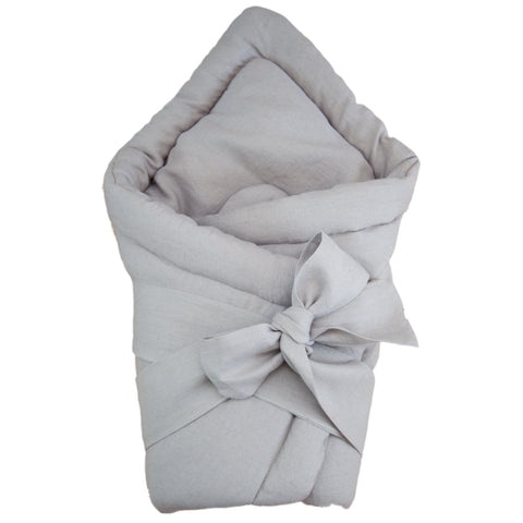 Baby swaddle wrap - linen grey