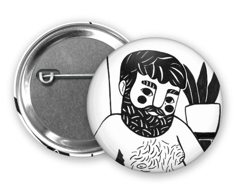 BLACK HAIR - Magiò Exclusive Special Edition - Badge Pinback Button