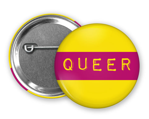 QUEER - Badge Pinback Button