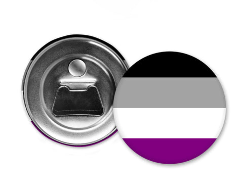 ASEXUALITY FLAG - Magnet with Bottle Opener