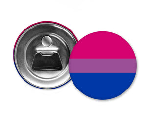 BISEXUAL FLAG - Magnet with Bottle Opener