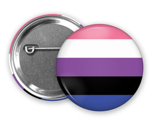 GENDERFLUID FLAG - Badge Pinback Button