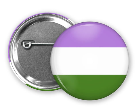GENDERQUEER FLAG - Badge Pinback Button