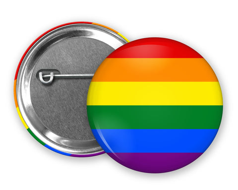 LGBT PRIDE FLAG - Badge Pinback Button