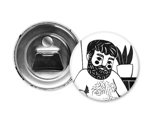 BLACK HAIR - Magiò Exclusive Special Edition - Magnet with Bottle Opener