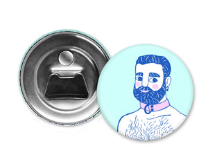 BLUE HAIR - Magiò Exclusive Special Edition - Magnet with Bottle Opener