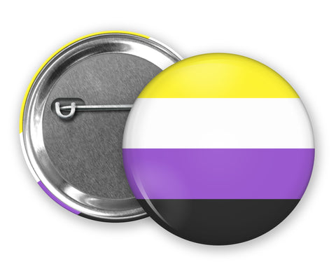 NONBINARY FLAG - Badge Pinback Button