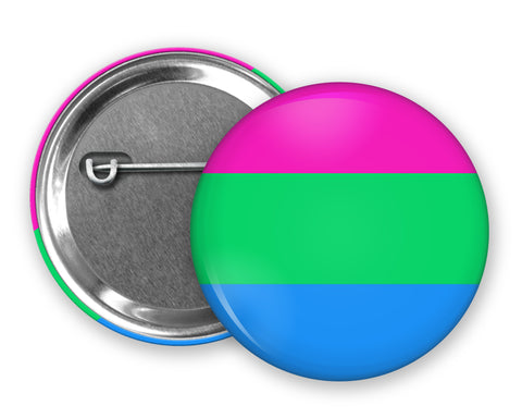 POLYSEXUAL FLAG - Badge Pinback Button