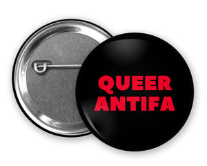 QUEER ANTIFA - Badge Pinback Button