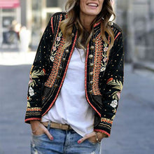 Load image into Gallery viewer, Long Sleeve Floral Embroidery Blazer Outerwear