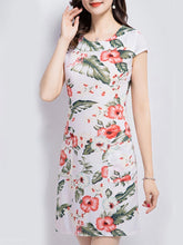 Load image into Gallery viewer, Round Neck  Print Bodycon Dress