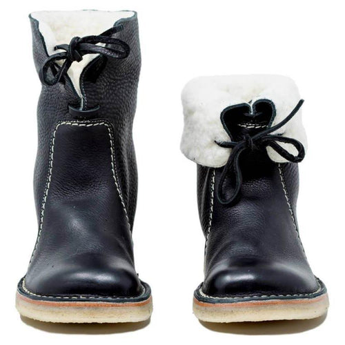 Fashion Wild Style Leather Warm Boots