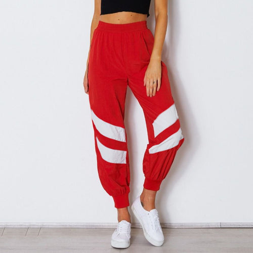 Fashion Stitching Sports Pants