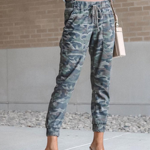 Fashion Camouflage Slim Pants