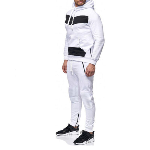 Fashion Patchwork Style Sport Suit