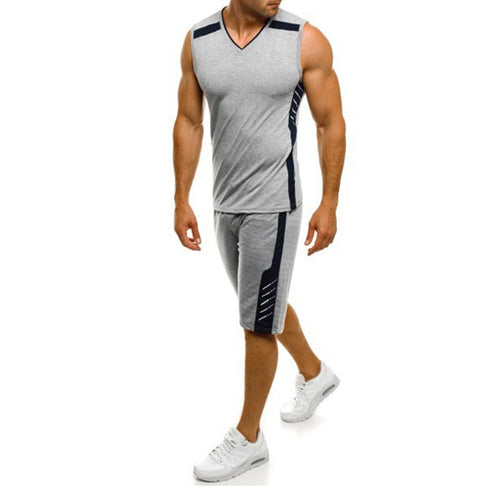 Men's Fashion Casual Plain Sleeveless Suits