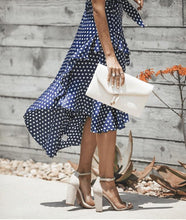 Load image into Gallery viewer, Fashion Polka Dot Laced Irregular Slim Dress