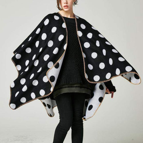 Casual Fashion Loose Rectangle Dot Cape Scarf