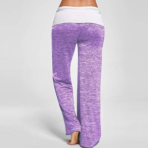 Casual Loose Stitching Yoga Pants With Belt