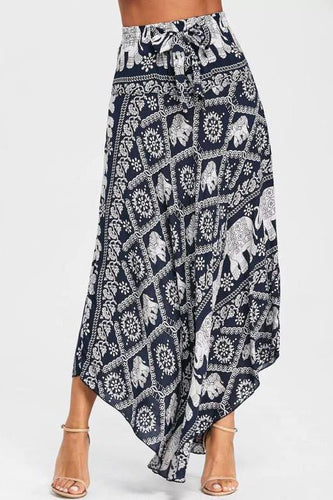 Elegant Fashion Casual Vacation Floral Loose Long Skirt