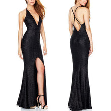 Load image into Gallery viewer, Elegant Straps Sequins Slim Evening Dress