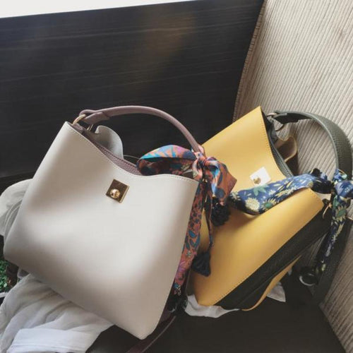 Fashion Color Block One Shoulder Hand Bag