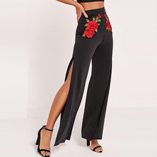 Load image into Gallery viewer, Fashion Embroidery Pure Color High Waist Pants