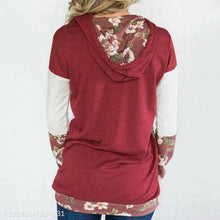 Load image into Gallery viewer, Fashion Long Sleeve Stitching Printed Hoodie