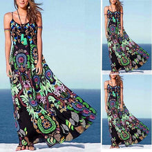 Load image into Gallery viewer, Floral Printed Straps Long Maxi Dress