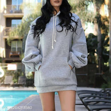Load image into Gallery viewer, Casual Brushed Long Sleeve Hoodie Coat