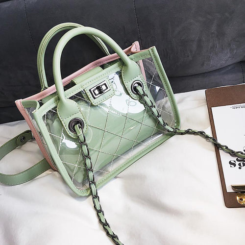 Fashion Lattice Jelly Cross Body Bag