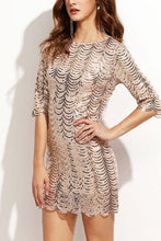 Load image into Gallery viewer, Sexy Fish Scale Sequined Evening Dress