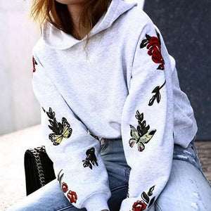 Printed Hooded Sweater