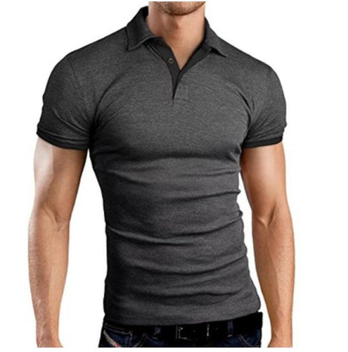 Slim Short-Sleeved Color POLO Shirt