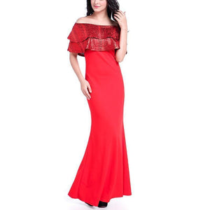 Mang Snake Double Collar Sexy Evening Dress