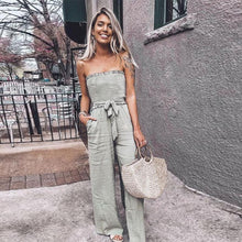 Load image into Gallery viewer, Military Green Casual Style Jumpsuit