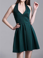 Load image into Gallery viewer, Ms. New Halter Halter V-Neck Sleeveless Dress