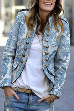 Load image into Gallery viewer, Fashion Print Long Sleeve Suit Cardigan