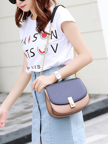Pu Leather Chain Piggy Messenger Bag